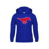 Youth Royal Fleece Hoodie-Official Outlined Logo