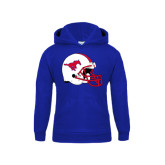 Youth Royal Fleece Hoodie-SMU Football Helmet