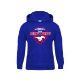 Youth Royal Fleece Hoodie-Mustangs in Shield