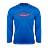 Performance Royal Longsleeve Shirt-Athletic Mustangs in Football