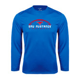 Performance Royal Longsleeve Shirt-Arched Football Design