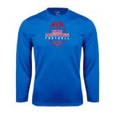 Syntrel Performance Royal Longsleeve Shirt-Tall Football Design