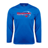Syntrel Performance Royal Longsleeve Shirt-Football Outline Design