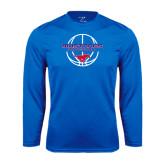 Performance Royal Longsleeve Shirt-Mustang in Basketball