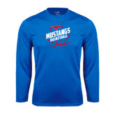 Performance Royal Longsleeve Shirt-Angled Mustangs in Basketball