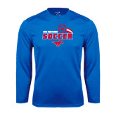 Performance Royal Longsleeve Shirt-Soccer Swoosh