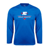 Performance Royal Longsleeve Shirt-Stacked Cross Country Design