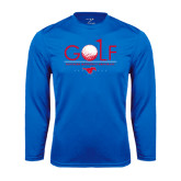 Performance Royal Longsleeve Shirt-Stacked Golf Design