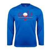 Syntrel Performance Royal Longsleeve Shirt-Stacked Golf Design