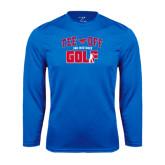 Syntrel Performance Royal Longsleeve Shirt-Tee Off Design