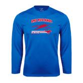 Syntrel Performance Royal Longsleeve Shirt-Rowing Design