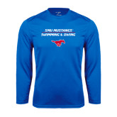 Performance Royal Longsleeve Shirt-Stacked Swim and Dive Design