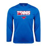 Syntrel Performance Royal Longsleeve Shirt-Tennis Design