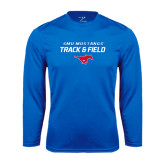 Performance Royal Longsleeve Shirt-Track and Field Stacked Design