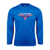 Syntrel Performance Royal Longsleeve Shirt-Track and Field Design