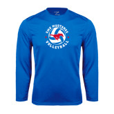 Syntrel Performance Royal Longsleeve Shirt-Mustang on Volleyball