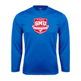 Syntrel Performance Royal Longsleeve Shirt-A Century of SMU Athletics
