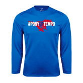 Performance Royal Longsleeve Shirt-#PonyUpTempo Flat