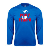 Performance Royal Longsleeve Shirt-Pony Up Tempo Stacked