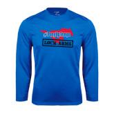 Syntrel Performance Royal Longsleeve Shirt-#PonyUpTempo Lock Arms