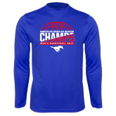 Performance Royal Longsleeve Shirt-2017 AAC Regular Season Champs - Mens Basketball Half Ball