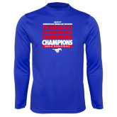 Syntrel Performance Royal Longsleeve Shirt-2017 AAC Regular Season Champions Repeating - Mens Basketball