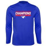 Performance Royal Longsleeve Shirt-2017 AAC Regular Season Champions - Mens Basketball Stencil