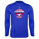 Performance Royal Longsleeve Shirt-2017 AAC Conference Champions - Mens Basketball Arched Shadow