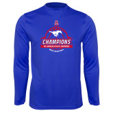 Performance Royal Longsleeve Shirt-2017 AAC Conference Champions - Mens Basketball Banners