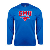 Performance Royal Longsleeve Shirt-SMU w/Mustang