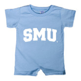 Light Blue Infant Romper-Block SMU