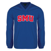 V Neck Royal Raglan Windshirt-Block SMU