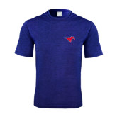 Performance Royal Heather Contender Tee-Official Outlined Logo