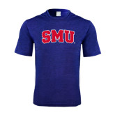 Performance Royal Heather Contender Tee-Block SMU