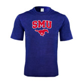 Performance Royal Heather Contender Tee-SMU w/Mustang