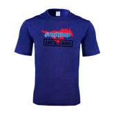 Performance Royal Heather Contender Tee-#PonyUpTempo Lock Arms