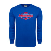 Royal Long Sleeve T Shirt-Mustangs in Football