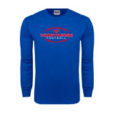 Royal Long Sleeve T Shirt-Athletic Mustangs in Football