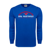 Royal Long Sleeve T Shirt-Arched Football Design