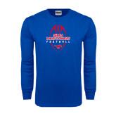 Royal Long Sleeve T Shirt-Tall Football Design