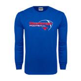 Royal Long Sleeve T Shirt-Football Outline Design