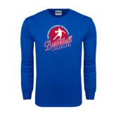 Royal Long Sleeve T Shirt-Player on Basketball Design
