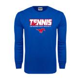 Royal Long Sleeve T Shirt-Tennis Design
