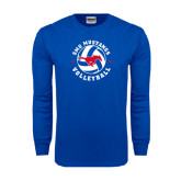 Royal Long Sleeve T Shirt-Mustang on Volleyball