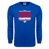 Royal Long Sleeve T Shirt-2017 AAC Regular Season Champions Repeating - Mens Basketball