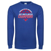 Royal Long Sleeve T Shirt-2017 Mens Soccer Champions