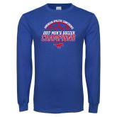 Royal Long Sleeve T Shirt-2017 Mens Soccer Champions