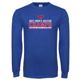Royal Long Sleeve T Shirt-2017 Mens Soccer Champs