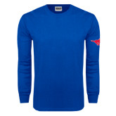 Royal Long Sleeve T Shirt-Official Outlined Logo