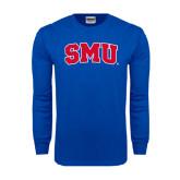 Royal Long Sleeve T Shirt-Block SMU